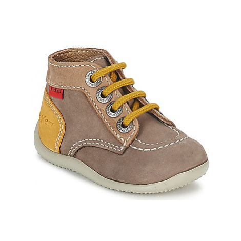 Kickers BONBON boys's Children's Mid Boots in Beige
