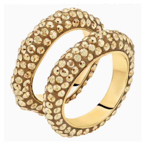Tigris Ring Set, Gold tone, Gold-tone plated Swarovski