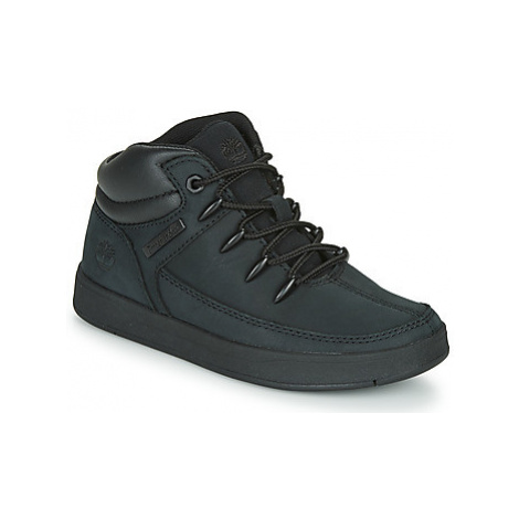 Timberland DAVIS SQUARE TDEUROSPRINT girls's Children's Shoes (High-top Trainers) in Black