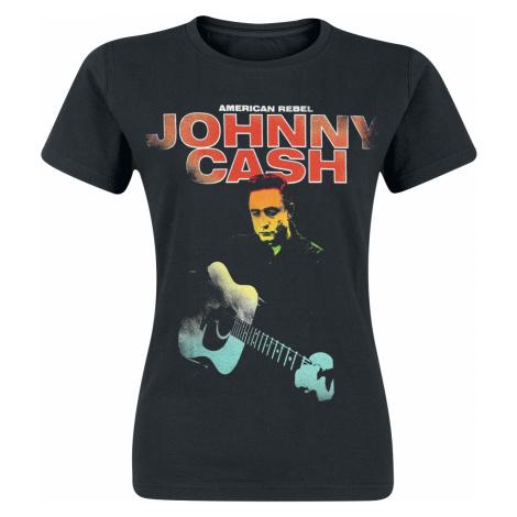 Johnny Cash - American Rebel Fluorescent - Girls shirt - black