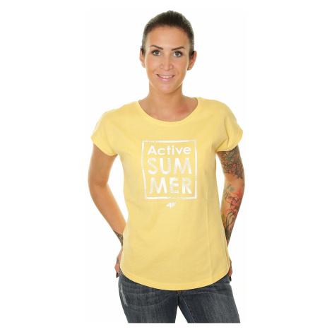 T-Shirt 4F H4L19-TSD011 - 71M/Yellow Melange - women´s