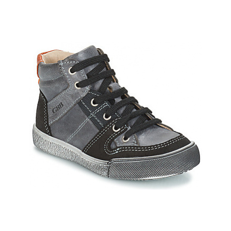 GBB NEMOON boys's Children's Shoes (High-top Trainers) in Grey