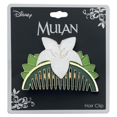 Mulan - Replica Comb - Hair Grip - green-white