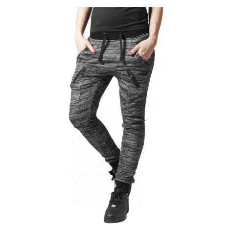 Urban Classics Ladies Fitted Melange Zip Sweatpants blk/gry