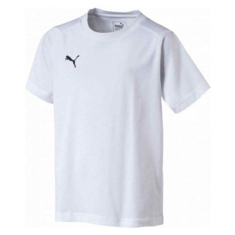 Puma LIGA CASUALS TEE JR white - Boys' T-shirt