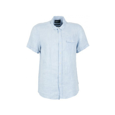 Chevignon C-LINEN men's Short sleeved Shirt in Blue