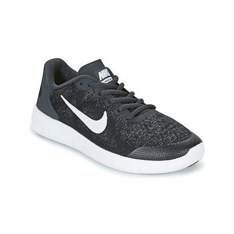 Nike FREE RUN 2017 GRADE SCHOOL girls's Children's Shoes (Trainers) in Black