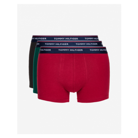 Tommy Hilfiger Boxers 3 Piece Black Green Red