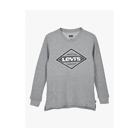 Levi's Boys' Thermal Long Sleeve T-Shirt, Grey Levi´s