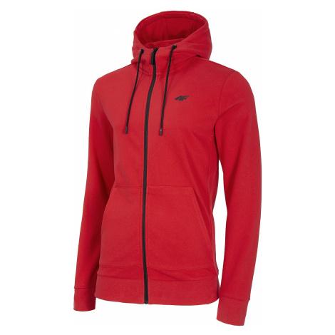 sweatshirt 4F NOSH4-BLM004 Zip - 62S/Red - men´s