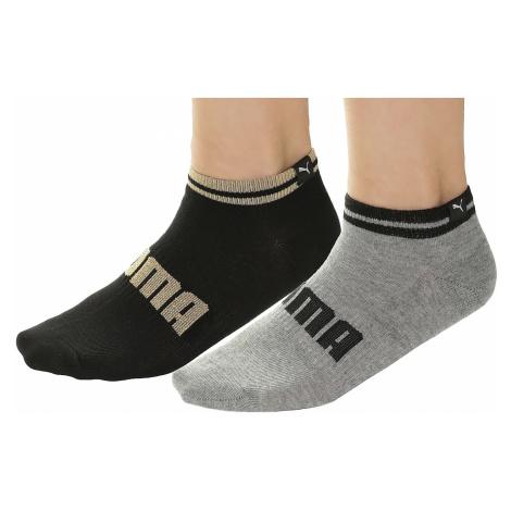 socks Puma 283001001/Sneakers Lurex 2 Pack - Black/Gray Melange - women´s