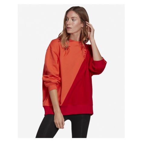 adidas Originals Adicolor Sliced Trefoil Sweatshirt Red Orange