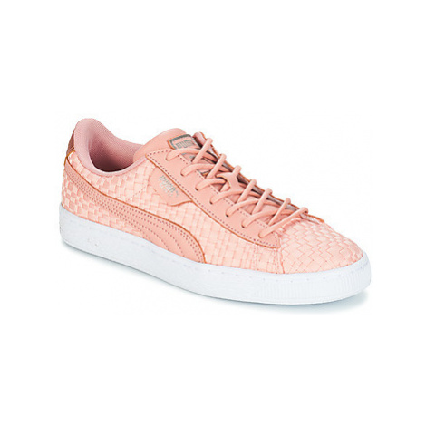 Puma BASKET SATIN EP WN'S women's Shoes (Trainers) in Pink