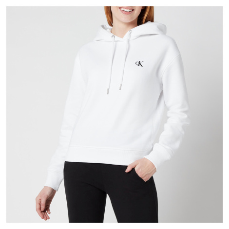 Calvin Klein Jeans Women's Embroidered Logo Hoodie - Bright White