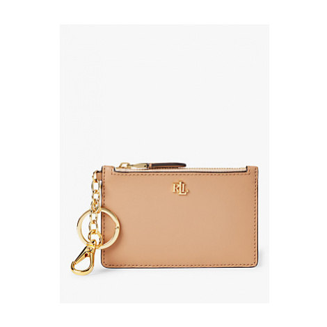 Lauren Ralph Lauren Zip Leather Card Holder
