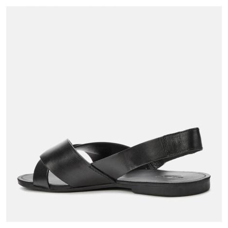 Vagabond Women's Tia Leather Flat Sandals - Black - UK