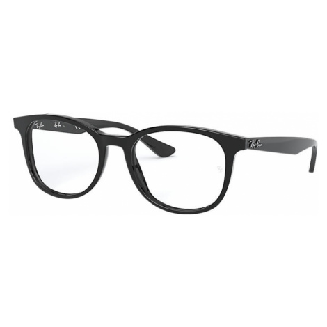 Ray-Ban Rb5356 Man Optical Lenses: Multicolor, Frame: Black - RB5356 2000 52-19