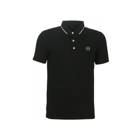 Armani Exchange 8NZF70-Z8M9Z-1202 men's Polo shirt in Black