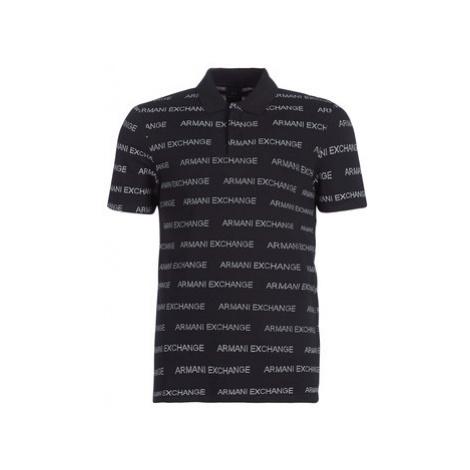 Armani Exchange HELAPE men's Polo shirt in Black