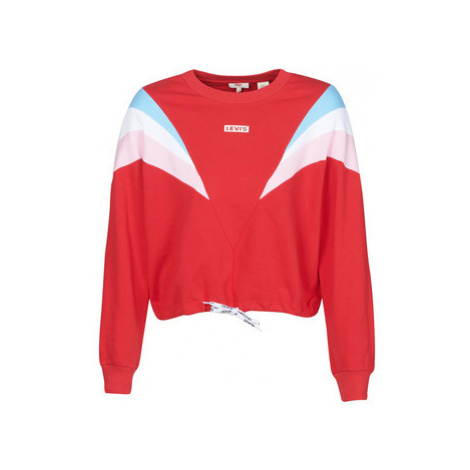 Levis FLORENCE CREW BABY TAB CB CREW BRILLIANT women's Sweatshirt in Red Levi´s