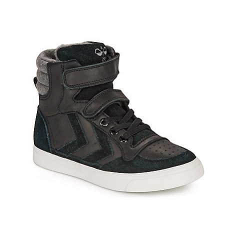 Hummel STADIL WINTER HIGH JR girls's Children's Shoes (High-top Trainers) in Black
