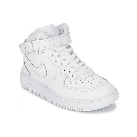 Nike AIR FORCE 1 MID CADET girls's Children's Shoes (High-top Trainers) in White