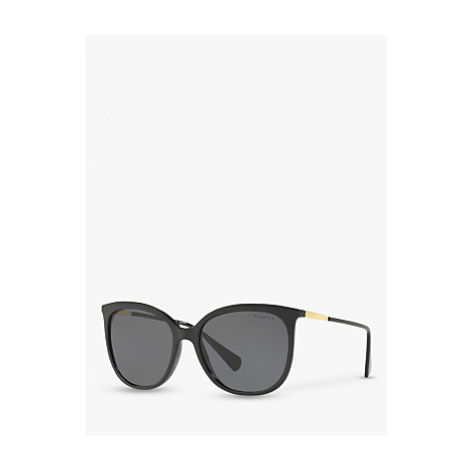 Polo Ralph Lauren RA5248 Women's Butterfly Sunglasses, Black/Grey Polarised