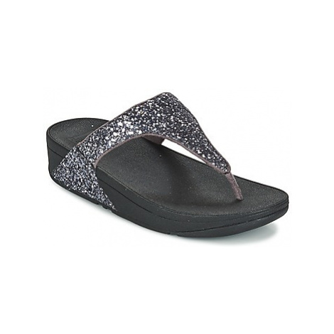 FitFlop GLITTERBALL TOE POST women's Flip flops / Sandals (Shoes) in Silver