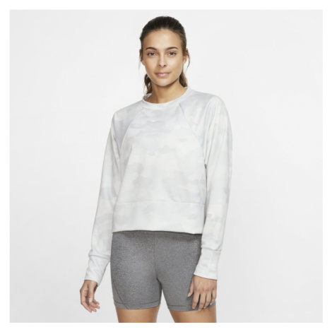 Nike Dri-FIT Women's Fleece Camo Training Top - White