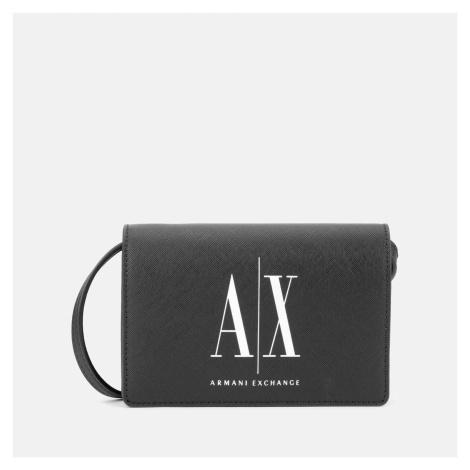 Armani Exchange Women's Icon Cross Body Bag - Black/White