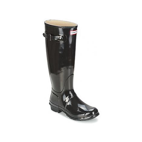 Hunter Women's Original Tall Gloss women's Wellington Boots in Black