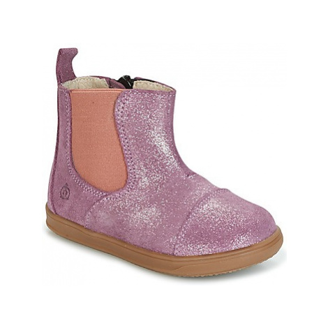 Citrouille et Compagnie HUETTE girls's Children's Mid Boots in Pink