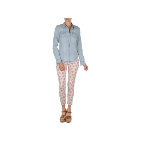 Sisley 4P0TD70P6 women's Trousers in White