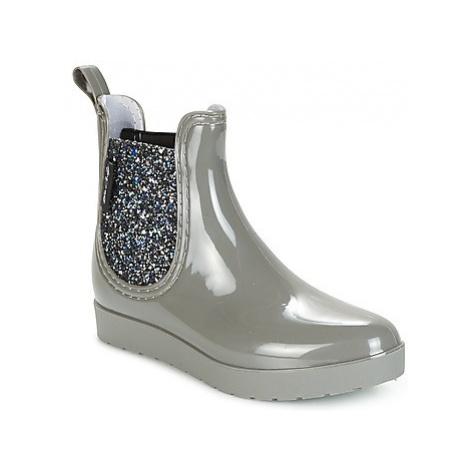 Be Only CAROLINE women's Wellington Boots in Silver
