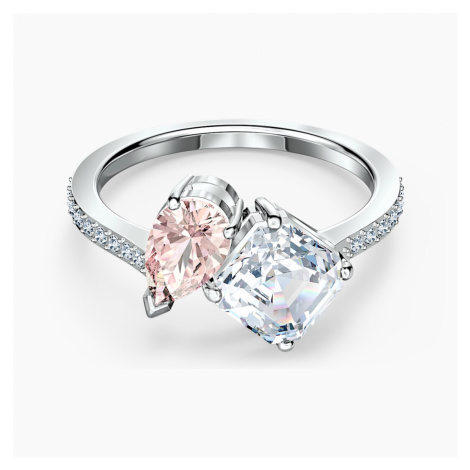 Attract Soul Ring, Pink, Rhodium plated Swarovski