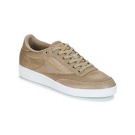 Reebok Classic CLUB C 85 METALLIC women's Shoes (Trainers) in Gold