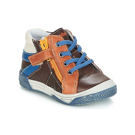 Babybotte ALDO boys's Children's Shoes (High-top Trainers) in Brown