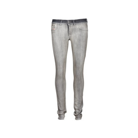 Diesel LIVIER women's Skinny Jeans in Grey
