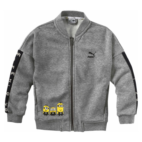 sweatshirt Puma Minions Bomber Zip - Medium Gray Heather - unisex junior