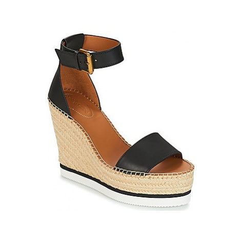 See by Chloé SB26152 women's Espadrilles / Casual Shoes in Black