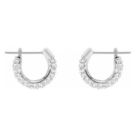 Swarovski Stone White Crystal Hoop Earrings