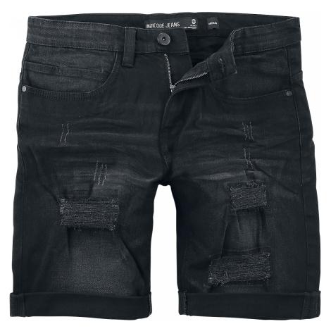 Indicode - Kaden Holes - Jeans shorts - black