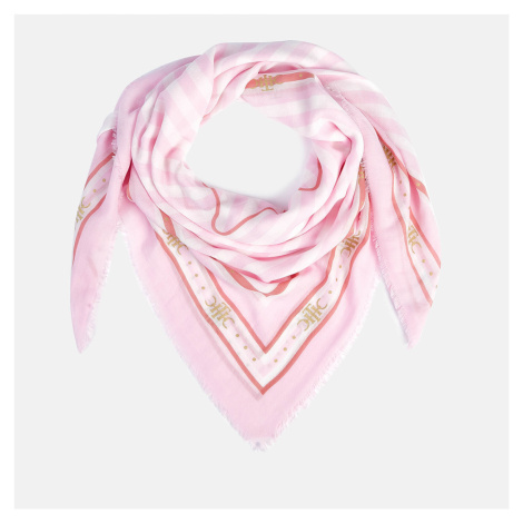 Tommy Hilfiger Women's TH Stripe Square Scarf - Light Pink