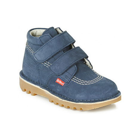Kickers NEOVELCRO boys's Children's Mid Boots in Blue