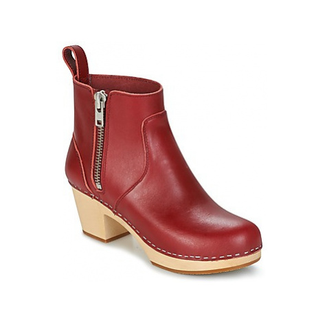 Swedish hasbeens ZIP IT EMY women's Low Ankle Boots in Red