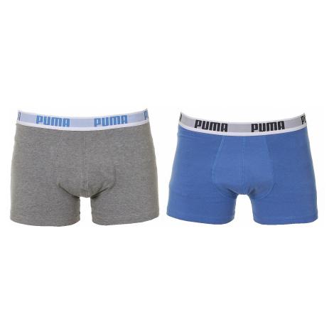 shorts Puma 521015001/Basic Boxer 2 Pack - 417/Blue/Gray