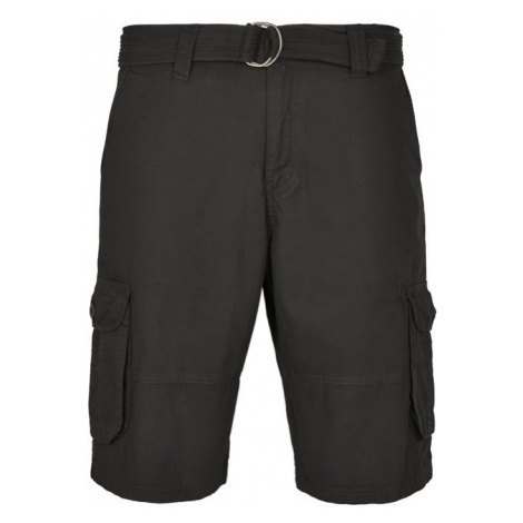 Urban Classics Belted Cargo Shorts Ripstop black