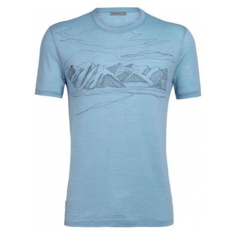 Icebreaker SPECTOR SS CREWE CORONET PEAK blue - Men's sports T-shirt Icebreaker Merino