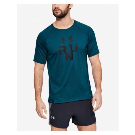 Under Armour Qualifier Glare T-shirt Blue Green