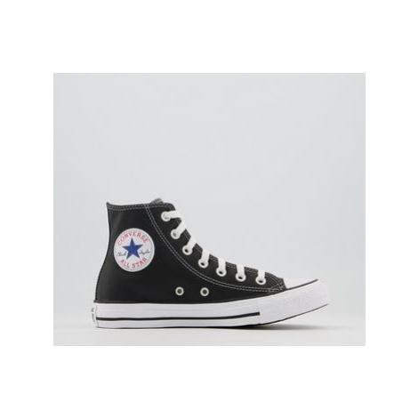 Converse All Star Hi Lthr BLACK WHITE